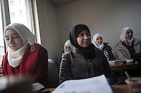 February 13, 2016: Syrian refugee youth attend english courses at one lenguage institute in the downtown of Gaziantep. A large number of well-educated students in Syria fled into Turkey during the war in the neighbouring country looking to continue their studies.