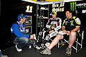 July 25, 2010 - Laguna Seca, USA -  Monster Yamaha Tech 3 team's American rider, Ben Spies, is pictured in his box prior the U.S. Grand Prix race held on July 25, 2010. (Photo Andrew Northcott/Nippon News).