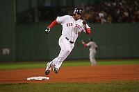 Johnny Damon. Baseball: 2004 World Series. St. Louis Cardinals vs Boston Red Sox. Boston, MA 10/24/2004 MANDATORY CREDIT: Brad Mangin/MLB Photos