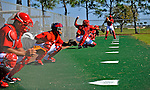 19 February 2011: Washington Nationals' catchers work on drills during Spring Training at the Carl Barger Baseball Complex in Viera, Florida. Mandatory Credit: Ed Wolfstein Photo