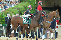 HOT SPRINGS, AR - APRIL 15: Lookin At Lee #6, with jockey Luis Contreras aboard before the running of the Arkansas Derby at Oaklawn Park on April 15, 2017 in Hot Springs, Arkansas. (Photo by Justin Manning/Eclipse Sportswire/Getty Images)