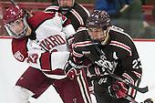 David Valek (Harvard - 23), Garnet Hathaway (Brown - 23) - The visiting Brown University Bears defeated the Harvard University Crimson 2-0 on Saturday, February 22, 2014 at the Bright-Landry Hockey Center in Cambridge, Massachusetts.