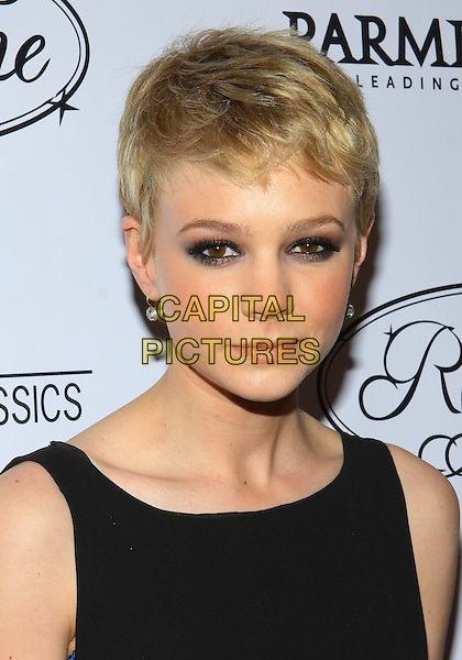 CAREY MULLIGAN.Parmigiani Watches & Raffone Luggage Sony Pictures Classics Oscar Party  held at II Cielo Restaurant, Beverly Hills, California, USA..March 6th, 2010.headshot portrait black eyeliner make-up beauty sleeveless .CAP/ADM/TC.©T. Conrad/AdMedia/Capital Pictures.