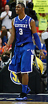 Terrence Jones smiles in the final minutes of the championship of the 2011 SEC Men's Basketball Tournament, played between Kentucky and Florida, at the Georgia Dome, Sunday, March 13, 2011.  It is Kentucky's 27th SEC Tournament championship win.  Photo by Latara Appleby | Staff