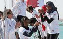 The Opening ceremony of Sailing Arabia The Tour 2012. Bahrain's Amwaj Marina.Al Thuraya Bank Muscat all womens team..Credit: Lloyd Images
