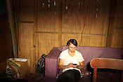 Sondre Lerche relaxes backstage after his set at the Flamingo Cantina in Austin, Texas during the 2011 SXSW Music Festival.