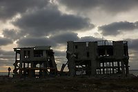 Gaza city, June 5, 2010.One of many buildings destroyed by Israel during the Cast Lead operation of January 2009.