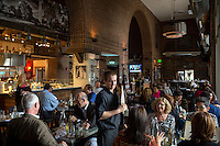 Copyright Justin Cook | November 7, 2013 - Patrons during the lunch rush at  Jimmy V's Osteria and Bar in Raleigh, N.C.