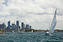 Sailing on the harbor with views of city, Sydney, Australia