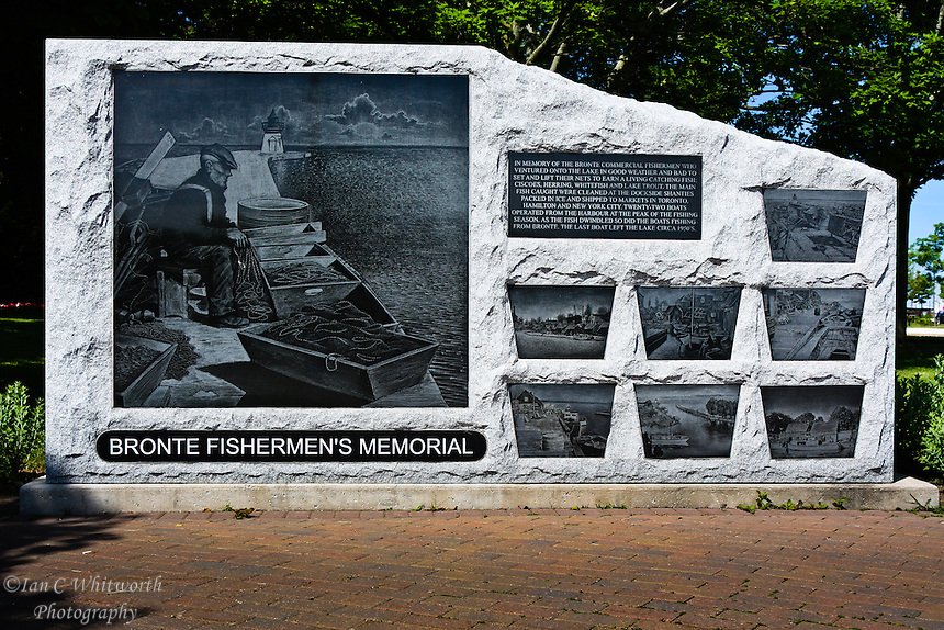 The Bronte Fishermen's Memorial in Oakville