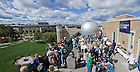 Sept. 21, 2013; College of Science tailgater on the observatory deck of the Jordan Hall of Science<br /> <br /> Photo by Matt Cashore/University of Notre Dame