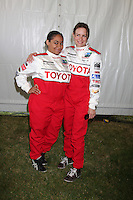Raven-Symone & Mary Lynn Rajskub  at  the 33rd Annual Toyota Pro/Celeb Race Press Day at the Grand Prix track in Long Beach, CA on April 7, 2009.©2009 Kathy Hutchins / Hutchins Photo....                .