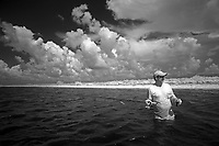 Captain Tom Shurtleff taking a break while fishing the Florida Everglades and the 10,000 islands out of Chokoloskee Island. Photo/Andrew Shurtleff