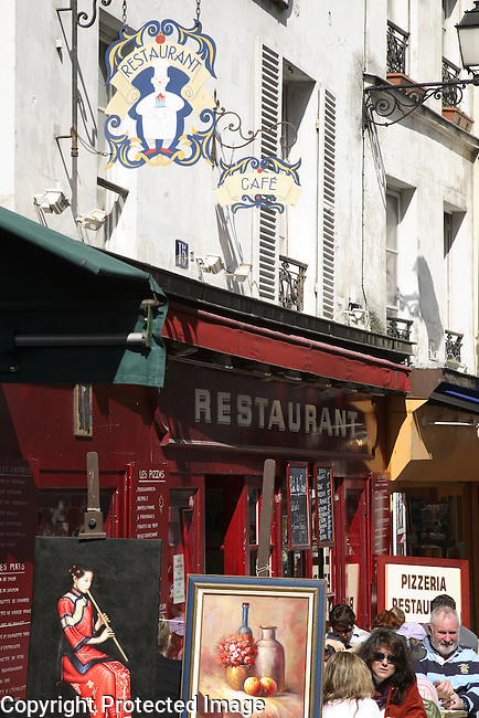 Art Gallery and Restaurant in Montmartre, Paris, France