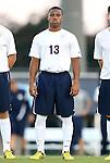 21 September 2012: Virginia's Kyler Sullivan. The University of North Carolina Tar Heels defeated the University of Virginia Cavaliers 1-0 at Fetzer Field in Chapel Hill, North Carolina in a 2012 NCAA Division I Men's Soccer game.