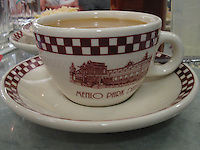 Classic style cups at an old fashioned dinner.