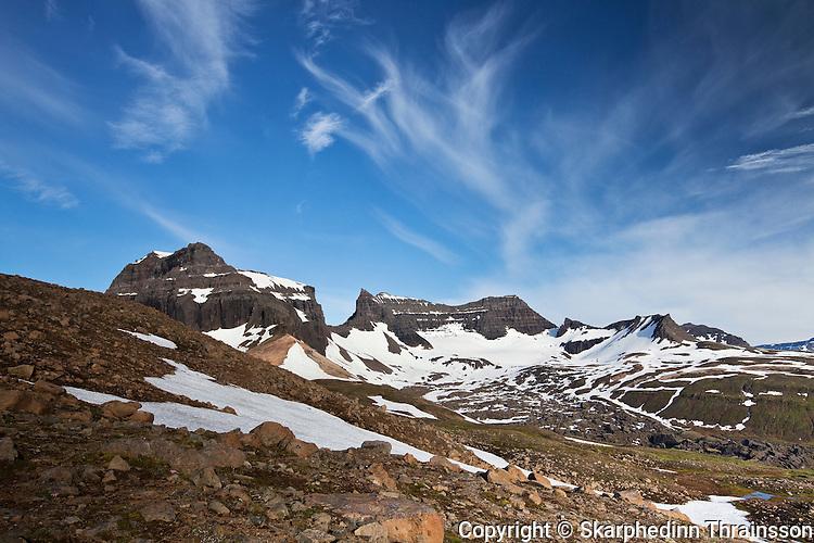 Mountain Dyrfjöll (1.136m), east Iceland