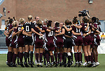 12 September 2009: Texas A&M's players jump in a huddle before the start of the game. The University of North Carolina Tar Heels defeated the Texas A&M University Aggies 2-0 at Fetzer Field in Chapel Hill, North Carolina in an NCAA Division I Women's college soccer game.