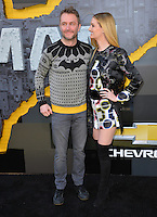 Chris Hardwick &amp; Lydia Hearst at the world premiere of &quot;The Lego Batman Movie&quot; at the Regency Village Theatre, Westwood, Los Angeles, USA 4th February  2017<br /> Picture: Paul Smith/Featureflash/SilverHub 0208 004 5359 sales@silverhubmedia.com