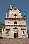 Basilica della Madonna di Tirano church ifacade; the church is dedicated to the appearance of the Virgn to Mario Degli Omodei in 1504 and located in Tirano, Italy
