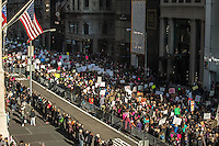 NEW YORK, NY - JANUARY 21: Thousands of people take part in the Women's March in New York City on January 21, 2017. Protesters in the United States and around the world are joining marches Saturday to raise awareness of women's rights and other civil rights they fear could be under threat under Donald Trump's presidency. Photo by VIEWpress/Maite H. Mateo.