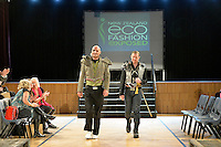 Hand Sewn by Dave Roil, New Zealand Eco Fashion Exposed Buyers &amp; Media Showcase at Notre Dame Performing Arts Centre, Lower Hutt, New Zealand on Thursday 24 July 2014. <br /> Photo by Masanori Udagawa. <br /> www.photowellington.photoshelter.com.
