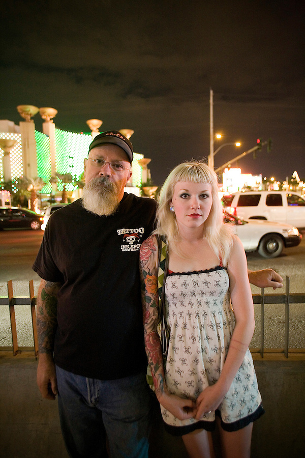 A couple in Las Vegas, Nevada.