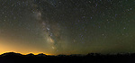 Panorama image: The Milky Way seen from Deer Park, looking south towards Mt. Deception, 7788' elevation. Olympic National Park WA