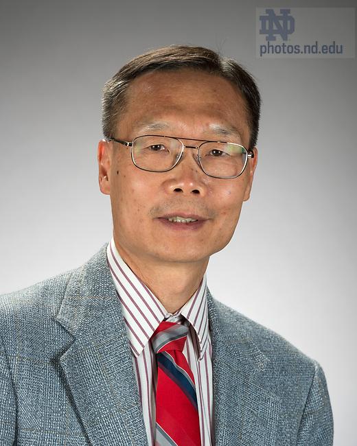 April 18, 2017; Danny Chen (Photo by Barbara Johnston/University of Notre Dame)