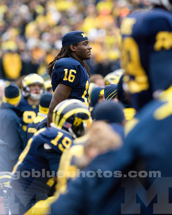 The University of Michigan football team beat Nebraska, 45-17, on the Cornhuskers first Big Ten trip to Michigan Stadium in Ann Arbor, Mich., on November 19, 2011.
