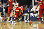 "Ole Miss' Marshall Henderson (22) vs. Rutgers' Eli Carter (5) at the C.M. ""Tad"" Smith Coliseum in Oxford, Miss. on Saturday, December 1, 2012. (AP Photo/Oxford Eagle, Bruce Newman).."