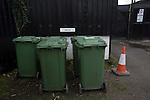 Stafford Rangers 2 Chasetown 1, 26/12/2015. Marston Road, Northern Premier League. A sign saying 'director' half-hidden behind a row of refuse bins at Marston Road, home of Stafford Rangers before they played local rivals Chasetown in a Northern Premier League first division south fixture. The club has played at Marston Road since 1896 and achieved prominence in the 1970s and 1980s as one of England's top non-League teams. League leaders Stafford won this match 2-1, despite having a man sent off, watched by a season's best attendance of 978. Photo by Colin McPherson.