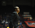 "Grambling State coach Bobby Washington vs. Ole Miss during the first half at the C.M. ""Tad"" Smith Coliseum in Oxford, Miss. on Monday, November 14, 2011.."