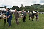 Widecombe Fair Widecombe in the Moor Dartmoor Devon Uk. Tables with siler cups.
