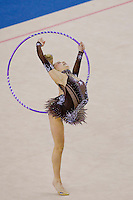 Hanna Rabtsava (BLR) performs with the hoop during the final of the 2nd Garantiqa Rythmic Gymnastics World Cup held in Debrecen, Hungary. Sunday, 07. March 2010. ATTILA VOLGYI