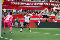 OTTAWA, Canada - Sunday June 7, 2015: Germany takes on the Ivory Coast in Group B at the Women's World Cup Canada 2015 at Lansdowne Stadium in Ottawa, Ontario, Canada.