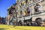 Team Sky on stage at sign on before the 101st edition of the Tour of Flanders 2017 running 261km from Antwerp to Oudenaarde, Flanders, Belgium. 26th March 2017.<br /> Picture: Eoin Clarke | Cyclefile<br /> <br /> <br /> All photos usage must carry mandatory copyright credit (&copy; Cyclefile | Eoin Clarke)