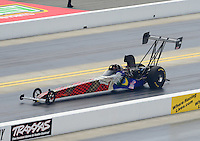 Apr. 14, 2012; Concord, NC, USA: NHRA top alcohol dragster driver Sidnei Frigo during qualifying for the Four Wide Nationals at zMax Dragway. Mandatory Credit: Mark J. Rebilas-