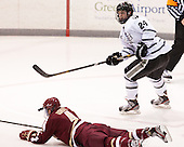 Teddy Doherty (BC - 4), Noel Acciari (PC - 24) - The Providence College Friars tied the visiting Boston College Eagles 3-3 on Friday, December 7, 2012, at Schneider Arena in Providence, Rhode Island.
