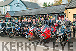 Charity Poker Run: North Kerry Bikers who took part in a sharity poker run in aid of the Listowel branch of the Wheelchair Association  & Gael Scoil, Lios Tuathail pictured at Mccarthy's Bar, Finuge on Sunday last.