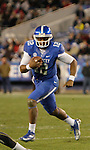 Kentucky Wildcats quarterback Morgan Newton (12) runs the ball during the second half of the UK Football game v. Samford at Commonwealth Stadium in Lexington, Ky., on Saturday, November 17, 2012. Photo by Genevieve Adams | Staff