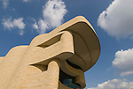 Washington, DC: National Museum of the American Indian.  External view of undulating architecture.  Photo # wash99301-70675..Photo copyright Lee Foster, www.fostertravel.com, lee@fostertravel.com, 510/549-2202