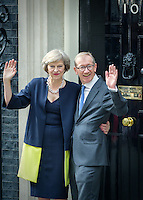 Theresa May becomes Britain's second female Prime Minister. Downing Street, London, England July 13, 2016. <br /> CAP/CAM <br /> &copy;Andre Camara/Capital Pictures /MediaPunch ***NORTH AND SOUTH AMERICAS ONLY***