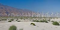 San Gorgonio, Pass, Coachella, Valley, Wind, Turbine, renewable, electric, power, generation, alternative, tubular, shaped, towers, Panorama, Panoramic