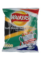 Packet of Walkers World Cup South African Sweet Chutney Flavour Crisps - May 2010