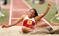 Shana Woods won the long jump with a mark of 20-02.25  at the USC Trojan Invitational held at Loker Stadium/Cromwell Field on Saturday, March 21, 2009. Photo by Errol Anderson, The Sporting Image.net
