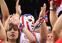 Fan of the USA during an international friendly match against Brazil in Giants Stadium, on August 10 2010, in East Rutherford, New Jersey.Brazil won 2-0.