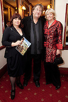 """NO REPRO FEE. 17/1/2010. The Field opening night.  Breda Cashe, Alan Stanford and Pat Moylan are pictured at the Olympia Theatre for the opening night of John B Keanes 'The Field"""" Picture James Horan/Collins"""