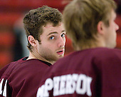 Thomas Larkin (Colgate - 27) - The Harvard University Crimson defeated the visiting Colgate University Raiders 6-2 (2 EN) on Friday, January 28, 2011, at Bright Hockey Center in Cambridge, Massachusetts.