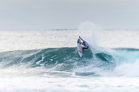 Bells Beach, Torquay, Victoria, Australia (Friday, March 25 2016): Adam Melling (AUS) - <br /> Round One of the Men's Rip Curl Pro hit the water at 8 am this morning and there were 6 heats run before the tide filled in and the event was called off for the day.<br /> There were light South West to North West winds through the morning with the swell in the 3'-4' range.<br /> <br /> Bells Beach has been hosting surfing tournaments for more than 50 years now, making it the most renowned spot on the raw and rugged southern coast of Victoria, Australia. The list of  Rip Curl Pro event champions is a veritable who's who of surfing icons, including many world champions.<br /> <br /> Surfing's greats have a way of dominating Bells. Mark Richards, Kelly Slater, and Mick Fanning all have four Bells trophies; Michael Peterson and Sunny Garcia, three; While Simon Anderson, Tom Curren, Joel Parkinson, Andy Irons, and Damien Hardman each grabbed a pair.<br /> <br /> The story is similar on the women's side. Lisa Andersen and Stephanie Gilmore have four Bells titles; Layne Beachley and Pauline Menczer, three; while Kim Mearig and Sally Fitzgibbons each have two.<br /> <br /> The 2016 event is about to kick off tomorrow and there was a packed warm up session at Bells this morning. <br /> Photo: joliphotos.com